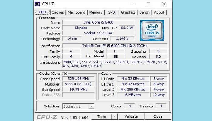 CPU-Z for Windows