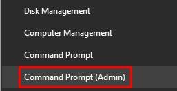 Command Prompt (Admin).