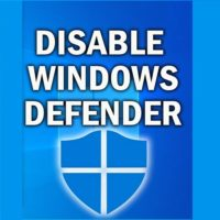 Disable Windows Defender Permanently